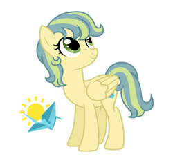 Size: 1280x1226 | Tagged: safe, artist:tenderrain46, oc, pegasus, pony, female, magical lesbian spawn, mare, offspring, parent:aunt holiday, parent:auntie lofty, simple background, solo, transparent background