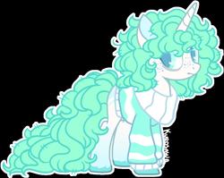 Size: 1218x970 | Tagged: safe, artist:kurosawakuro, oc, pony, unicorn, clothes, female, mare, simple background, solo, sweater, transparent background
