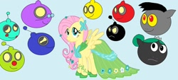Size: 1280x581 | Tagged: safe, artist:disneyponyfan, fluttershy, oc, clothes, dress, gala dress, snow white and the seven dwarfs