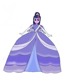 Size: 1480x1669 | Tagged: safe, artist:recommender440, twilight sparkle, clothes, dress, gown