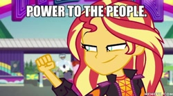 Size: 600x337 | Tagged: safe, edit, edited screencap, screencap, sunset shimmer, equestria girls, equestria girls series, sunset's backstage pass!, spoiler:eqg series (season 2), caption, image macro, text
