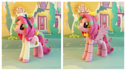 Size: 1686x950   Tagged: safe, artist:krowzivitch, oc, oc:precious metal, pegasus, pony, clothes, female, figurine, five nights at freddy's, irl, lab coat, mare, photo, solo