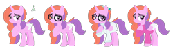 Size: 1521x413 | Tagged: safe, artist:acuteexposure, oc, oc only, oc:chemical sunshine, alicorn, pony, icey-verse, alicorn oc, clothes, coat, ear piercing, earring, female, glasses, horn, jewelry, lab coat, magical lesbian spawn, mare, offspring, parent:luster dawn, parent:potion nova, parents:lusternova, pencil, piercing, raised hoof, scientist, simple background, solo, sweater, transparent background, wings