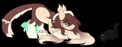 Size: 1076x417   Tagged: safe, artist:inspiredpixels, oc, oc only, oc:koneka, cat, earth pony, pony, chibi, female, mare, simple background, solo, transparent background