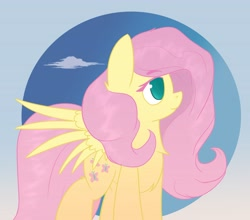 Size: 4096x3610   Tagged: safe, artist:ponyangle, fluttershy, pegasus, pony, female, mare