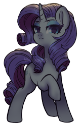 Size: 1185x1850 | Tagged: safe, artist:hawthornss, rarity, pony, unicorn, female, looking at you, mare, one hoof raised, simple background, solo, transparent background, watermark