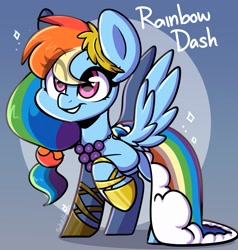 Size: 2255x2371 | Tagged: safe, artist:sakukitty, rainbow dash, pegasus, pony, alternate hairstyle, clothes, cute, dashabetes, dress, female, gala dress, heart eyes, high res, mare, smiling, solo, spread wings, wingding eyes, wings