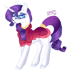 Size: 1920x1983 | Tagged: safe, artist:nightingalewolfie, rarity, pony, unicorn, clothes, eyeshadow, female, lidded eyes, looking at you, makeup, mare, simple background, smiling, solo, transparent background
