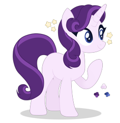 Size: 4400x4500 | Tagged: safe, artist:magicuniclaws, oc, pony, unicorn, female, horn, magical lesbian spawn, mare, offspring, parent:rarity, parent:starlight glimmer, parents:starity, simple background, solo, transparent background, unicorn oc, vector