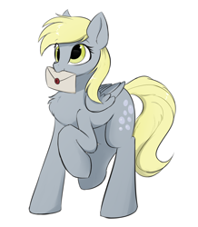 Size: 1444x1659 | Tagged: safe, artist:d.w.h.cn, derpy hooves, pegasus, pony, chest fluff, cute, cutie mark, derpabetes, envelope, simple background, solo, wax seal, white background