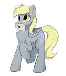 Size: 1444x1659   Tagged: safe, artist:d.w.h.cn, derpy hooves, pegasus, pony, chest fluff, cute, cutie mark, derpabetes, envelope, simple background, solo, wax seal, white background