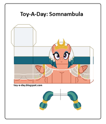Size: 600x699 | Tagged: safe, artist:grapefruitface1, somnambula, pony, arts and crafts, craft, female, papercraft, printable, toy a day
