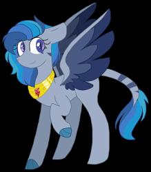 Size: 1570x1796 | Tagged: safe, artist:gallantserver, oc, oc:petrichor, dracony, dragon, hybrid, pony, female, magical lesbian spawn, offspring, parent:princess ember, parent:rainbow dash, parents:emberdash, solo