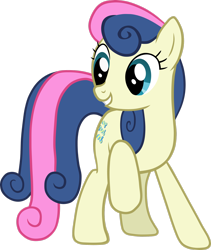 Size: 2248x2667 | Tagged: safe, artist:scrimpeh, bon bon, sweetie drops, earth pony, pony, female, mare, raised hoof, simple background, solo, transparent background, vector