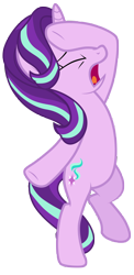 Size: 7000x14400 | Tagged: safe, artist:tardifice, starlight glimmer, pony, unicorn, the beginning of the end, absurd resolution, bipedal, drama queen, eyes closed, facehoof, open mouth, simple background, solo, standing, standing on one leg, transparent background, vector