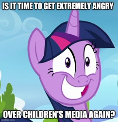 Size: 500x515 | Tagged: safe, edit, edited screencap, screencap, twilight sparkle, top bolt, brony stereotype, meme, smiling