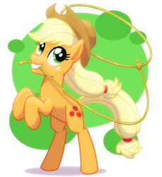 Size: 2560x2800 | Tagged: safe, artist:whitequartztheartist, applejack, earth pony, pony, rope, solo