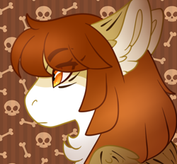 Size: 390x362 | Tagged: safe, artist:nobleclay, oc, oc:dove, pegasus, pony, bust, female, mare, portrait, solo