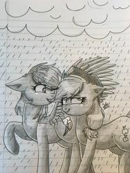 Size: 3024x4032 | Tagged: safe, artist:galaxy swirl, applejack, rainbow dash, earth pony, pegasus, pony, appledash, female, lesbian, shipping