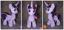 Size: 2560x1200 | Tagged: safe, artist:1stastrastudio, twilight sparkle, alicorn, pony, irl, photo, plushie, solo, twilight sparkle (alicorn)