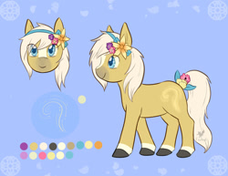 Size: 1280x986 | Tagged: safe, artist:foxhatart, oc, oc:pollen dust, earth pony, pony, male, reference sheet, solo, stallion
