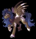 Size: 3500x3800 | Tagged: safe, artist:kikirdcz, oc, oc only, oc:navi gamma caiopeiae, pegasus, pony, solo