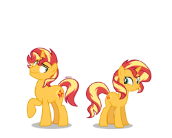 Size: 1316x1053 | Tagged: safe, artist:orin331, edit, vector edit, sunset shimmer, pony, unicorn, equestria girls, equestria guys, female, male, mare, r63 paradox, rule 63, self paradox, simple background, stallion, sunset glare, transparent background, vector