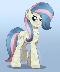 Size: 2500x3000 | Tagged: safe, artist:aarondrawsarts, honeysparkle, crystal pony, pony, background pony, commission, commissioner:reversalmushroom, looking at you