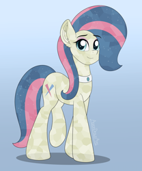 Size: 2500x3000 | Tagged: safe, alternate version, artist:aarondrawsarts, honeysparkle, crystal pony, pony, background pony, commission, commissioner:reversalmushroom, looking at you