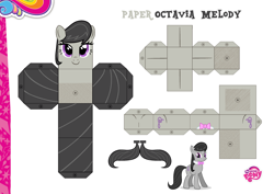 Size: 2048x1447 | Tagged: safe, artist:datbrass, artist:grapefruitface1, artist:luckreza8, octavia melody, base used, craft, custom, irl, papercraft, photo, printable, solo, toy