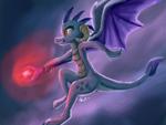 Size: 1600x1200 | Tagged: safe, artist:raphaeldavid, princess ember, dragon, bloodstone scepter, dragon lord ember, solo