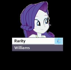 Size: 418x409 | Tagged: safe, rarity, equestria girls, formula 1, solo, starting grid, williams