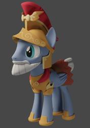 Size: 764x1080 | Tagged: safe, artist:dracagon, captain ironhead, pony, 3d, solo