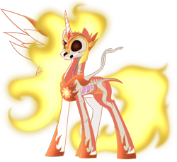 Size: 1200x1100 | Tagged: safe, artist:enigmadoodles, daybreaker, pony, bone, dissectibles, organs, simple background, skeleton, solo, transparent background