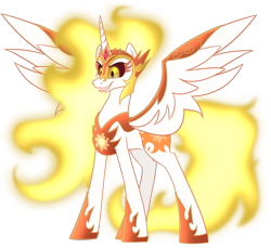 Size: 1200x1100 | Tagged: safe, alternate version, artist:enigmadoodles, daybreaker, pony, simple background, solo, transparent background
