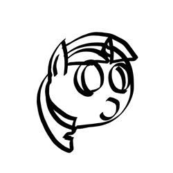 Size: 1080x1080 | Tagged: safe, artist:apexsoundwave, twilight sparkle, pony, unicorn, bust, monochrome, solo, stylistic suck