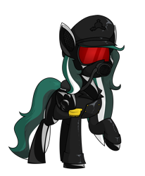 Size: 1400x1698 | Tagged: safe, artist:moonatik, oc, oc only, oc:messer, pegasus, pony, clothes, commission, epaulettes, female, german empire, hat, jacket, latex, leather jacket, mare, peaked cap, pegasus oc, rubber drone, solo, wings