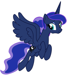 Size: 1221x1374 | Tagged: safe, artist:gmaplay, princess luna, alicorn, pony, alternate hairstyle, flying