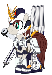 Size: 1316x1876   Tagged: safe, artist:gmaplay, oc, oc:stardust memory, pony, unicorn, armor, gundam, nu gundam, solo