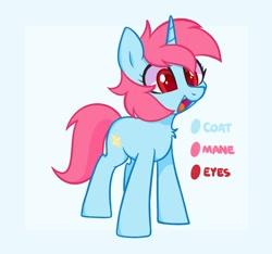 Size: 1500x1406 | Tagged: safe, artist:handgunboi, oc, oc:starfire, pony, unicorn, reference sheet, solo