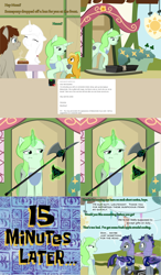 Size: 1802x3080   Tagged: safe, artist:askmerriweatherauthor, oc, oc only, oc:adamant, oc:enfield, oc:meadow lark (ask merriweather), oc:merriweather, oc:skizze, oc:westwood, bat pony, pegasus, pony, unicorn, ask merriweather, colt, female, halberd, male, mare, weapon