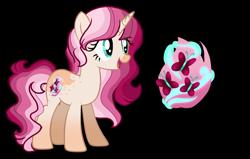 Size: 2227x1415 | Tagged: safe, artist:firegalaxysparkle, oc, pony, unicorn, female, magical lesbian spawn, mare, offspring, parent:fluttershy, parent:tempest shadow, parents:tempestshy, simple background, solo, transparent background