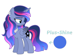 Size: 1600x1204 | Tagged: safe, artist:stellamoonshineyt, oc, oc:stella moon, alicorn, pony, female, magical lesbian spawn, mare, offspring, parent:princess luna, parent:twilight sparkle, parents:twiluna, simple background, solo, transparent background