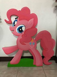 Size: 185x247 | Tagged: artist needed, source needed, safe, pinkie pie, earth pony, pony, cutie mark, photo, solo, standee