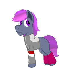 Size: 1000x1000   Tagged: safe, artist:derpy_the_duck, oc, oc:marty, earth pony, 80s, clothes, leg warmers, looking back, solo