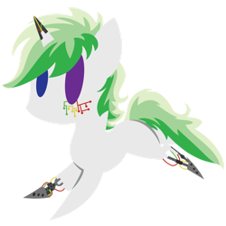 Size: 1280x1281 | Tagged: safe, artist:captshowtime, part of a set, oc, oc only, oc:techno muse, cyborg, pony, unicorn, broken horn, chibi, commission, cute, horn, icon, robotic, simple background, solo, transparent background, ych result, your character here