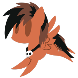 Size: 2100x2100 | Tagged: safe, artist:captshowtime, part of a set, oc, oc only, oc:stay metal, pony, chibi, commission, cute, icon, jewelry, necklace, simple background, skull, solo, transparent background, ych result, your character here