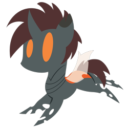 Size: 2100x2100 | Tagged: safe, artist:captshowtime, part of a set, oc, oc only, oc:light f1ux, oc:light flux, changeling, insect, pony, changeling oc, chibi, commission, cute, icon, orange changeling, simple background, solo, transparent background, ych result, your character here