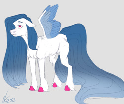 Size: 1280x1081 | Tagged: safe, artist:corisodapop, oc, pegasus, pony, colored wings, female, mare, multicolored wings, solo, wings