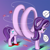 Size: 4000x4000 | Tagged: safe, artist:ser-p, starlight glimmer, pony, unicorn, absurd resolution, electromagnetism, female, long glimmer, long pony, looking at you, magnetic field, mare, physics, plus sign, solenoid, solo, wat
